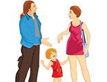 اختبار حول حق الطفل بالعيش مع آبائه (2-9)